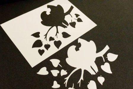 #5.2 Set of 3pcs Xmas Stencils Mistletoe Birds Angel Candle Christmas Decoration