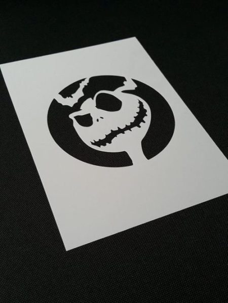 NIGHTMARE BEFORE CHRISTMAS Style Jack Skellington Airbrushing Stencil Wall  Bats