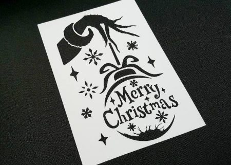 NIGHTMARE BEFORE CHRISTMAS Style Oogie Boogie Airbrushing Stencil Wall Cake Card