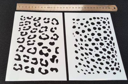 Leopard Cheetah Skin Pattern Texture Paint Airbrush Stencils Mask Face  Painting